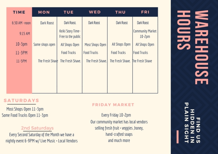 Blue and Pink Simple Pattern Class Schedule
